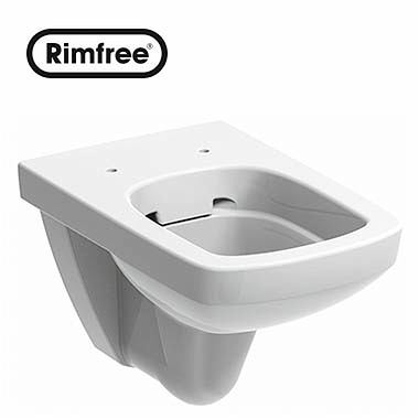 NOVA PRO Rectangular wall hung Rimfree pan without an inner rim