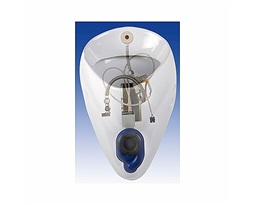 Alex urinal set with automatic radar flushing system with element supply, 230V