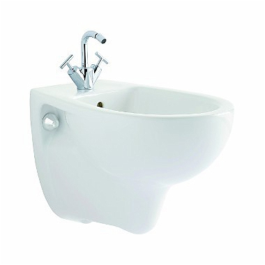 REKORD wall hung bidet with tap hole