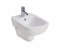 STYLE Wall hung bidet with tap hole