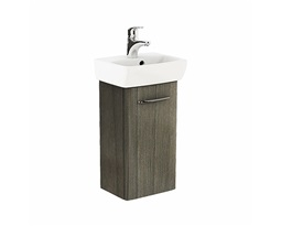 NOVA PRO 36 cm Bathroom set: Rectangular washbasin 36 cm + Washbasin cabinet 30,3 cm, grey ash