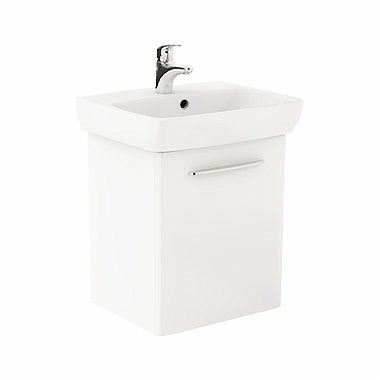 NOVA PRO 55 cm Bathroom set: Rectangular washbasin 55 cm + Washbasin cabinet 46,4 cm, white glossy