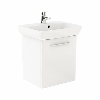 NOVA PRO 60 cm Bathroom set: Rectangular washbasin 60 cm + Washbasin cabinet 49,3 cm, white glossy