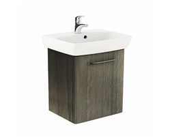 NOVA PRO 60 cm Bathroom set: Rectangular washbasin 60 cm + Washbasin cabinet 49,3 cm, grey ash