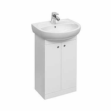 SOLO 50 cm Bathroom set: Furniture washbasin 50 cm + Washbasin cabinet 40 cm, white glossy