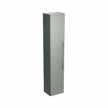 TRAFFIC 180 cm Tall side cabinet, light grey glossy