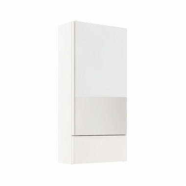 NOVA PRO 41,8 cm Side cabinet with mirror, white glossy