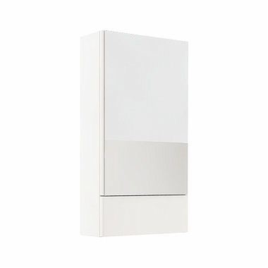 NOVA PRO 46,4 cm Side cabinet with mirror, white glossy
