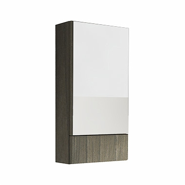 NOVA PRO 46,4 cm Side cabinet with mirror, grey ash