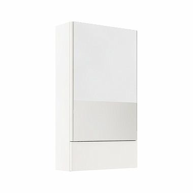 NOVA PRO 49,3 cm Side cabinet with mirror, white glossy