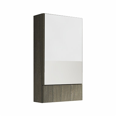 NOVA PRO 49,3 cm Side cabinet with mirror, grey ash