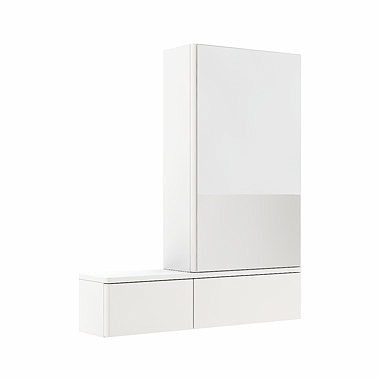 NOVA PRO 70,8 cm Cabinet with mirror, right, white glossy