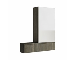 NOVA PRO 70,8 cm Cabinet with mirror, right, grey ash