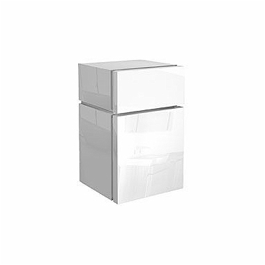 VARIUS Low side cabinet with drawer, white glossy