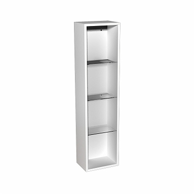 DOMINO body to the 120 cm upper side cabinet, right or left, white glossy