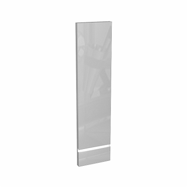 DOMINO front to the 120 cm Upper side cabinet, right, white glossy