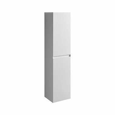 QUATTRO 170 cm High side cabinet, white glossy