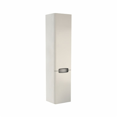 REKORD 160 cm High side cabinet, white glossy