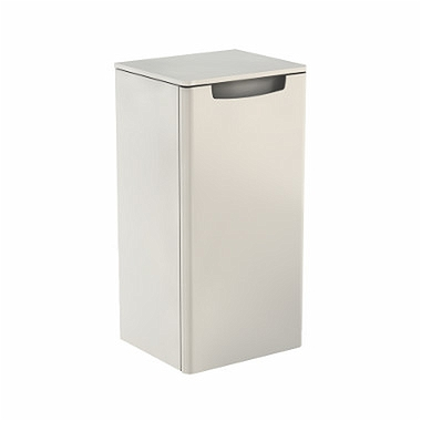 REKORD 70 cm Low side cabinet, right, white glossy