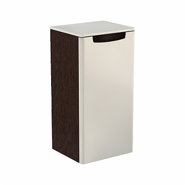 REKORD 70 cm Low side cabinet, right, white glossy/wenge