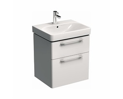 TRAFFIC 56,8 cm Washbasin cabinet, white glossy