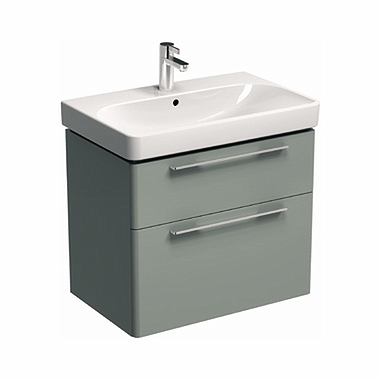 TRAFFIC 71,8 cm Washbasin cabinet, white glossy