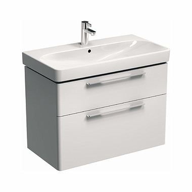 TRAFFIC 86,8 cm Washbasin cabinet, white glossy