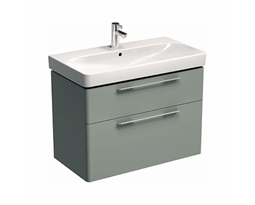 TRAFFIC 86,8 cm Washbasin cabinet, light grey glossy