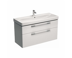 TRAFFIC 116,8 cm Washbasin cabinet, white glossy