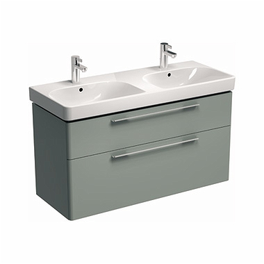 TRAFFIC 116,8 cm Washbasin cabinet, light grey glossy