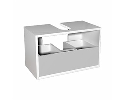 DOMINO body to the universal cabinet with drawer 60 cm, white glossy