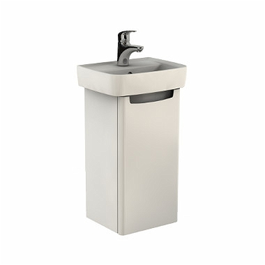 REKORD Washbasin cabinet 31 x 59,1 x 26,2 cm, right, white glossy