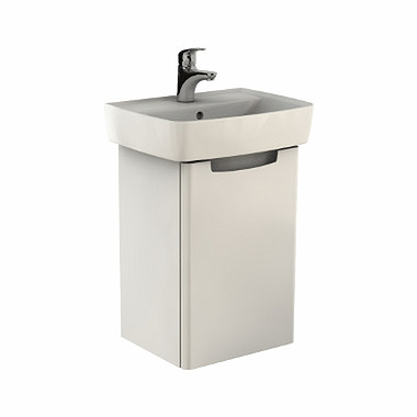 REKORD Washbasin cabinet 40 x 59,1 x 32,5 cm, right, white glossy