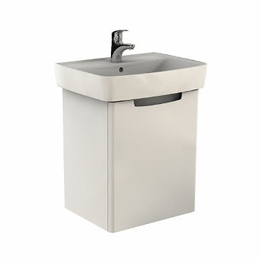 REKORD Washbasin cabinet 50 x 59,1 x 38,5 cm, right, white glossy