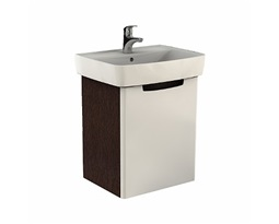 REKORD-Washbasin-cabinet-50-kh-591-kh-385-cm-universal-right-and-left-white-glossywenge