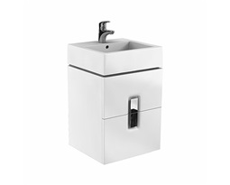TWINS-cabinet-with-2-drawers-50cm-white-glossy