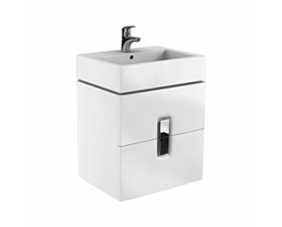 TWINS-cabinet-with-2-drawers-60cm-white-glossy