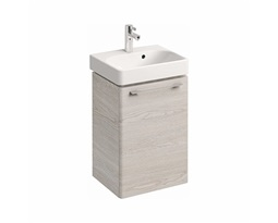 Washbasin-cabinet-with-door-TRAFFIC-434-x-625-x-349-cm-white-ash