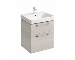 Washbasin-cabinet-with-2-drawers-TRAFFIC-568-x-625-x-461-cm-white-ash