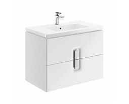TWINS-Wall-hung-washbasin-cabinet-80-cm-with-2-drawers-white