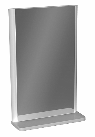 PIANO 38,8 cm Mirror with shelf, white glossy