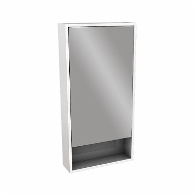OVUM/EGO by Antonio Citterio cabinet with mirror 45 cm, white glossy