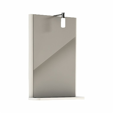 REKORD 44,3 cm mirror with lighting, white glossy