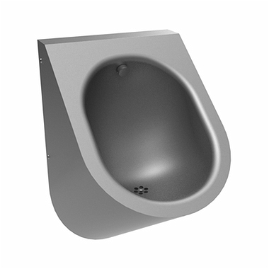 Urinal, rear inlet