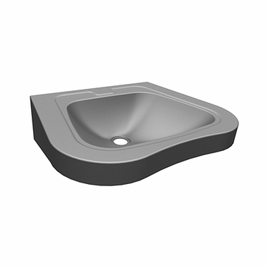Washbasin for disabled people 60 cm with tap hole, without overflow