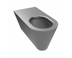 Wall hung pan for disabled people 70 cm, with horizontal outflow