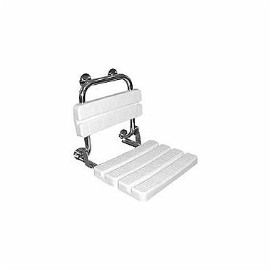 LEHNEN FUNKTION shower seat with back rest, matt