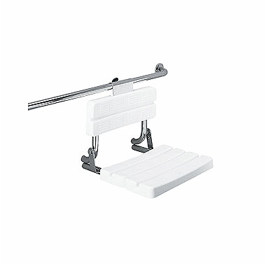 LEHNEN FUNKTION hang-mounted shower seat with back rest, matt