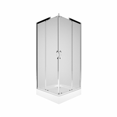 REKORD Square-corner shower enclosure 90 x 90 cm, Sliding doors