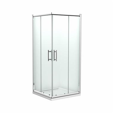 GEO 6 EASY Square-corner shower enclosure 90 x 90 cm, Sliding doors